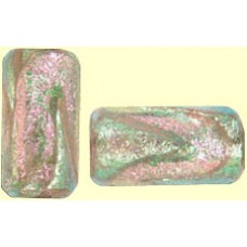 1 Orange Pink Clear Dichroic Barrel Bead