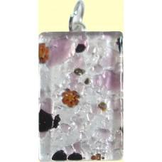 Murano Glass Medium Oblong Pendant