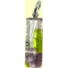 Italian Glass Small Oblong Pendant