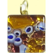 Italian Glass Medium Square Pendant