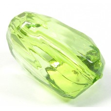 Faceted Acrylic Nugget Bead Peridot