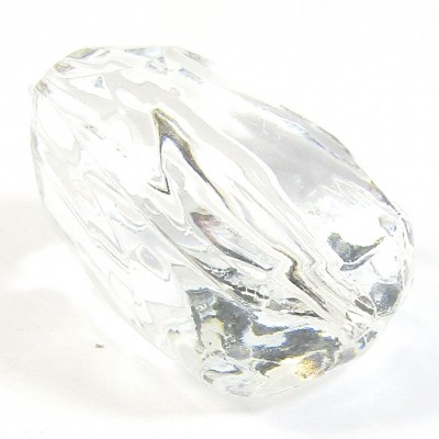 Faceted Acrylic Nugget Bead Clear
