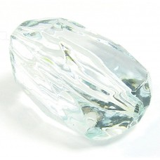 Faceted Acrylic Nugget Bead Aquamarine