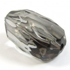 Faceted Acrylic Nugget Bead Black Diamond