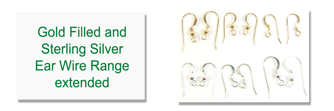 Sterling Silver & Gold filled Earwires Aug 2021
