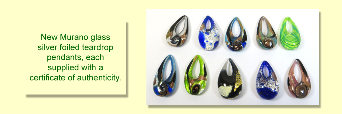 Murano Glass Teardrop Pendants