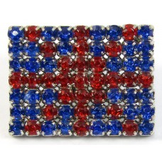 1 Acrylic Union Jack Button
