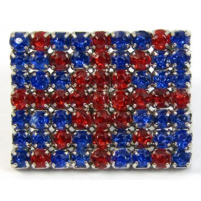1 Acrylic Union Jack Button