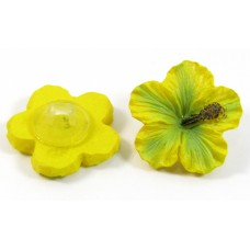 1 Acrylic Yellow Colour Flower Button