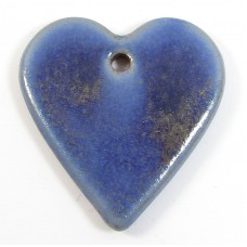1 Funky Heart Porcelain Pendant - Forget Me Not
