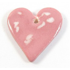 1 Porcelain Funky Heart Mini - Candy Floss