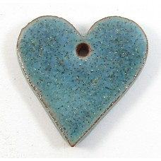 1 Porcelain Funky Heart Mini - Blue Lagoon