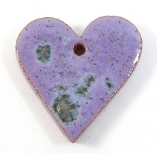 1 Porcelain Funky Heart Mini - Speckled Violet