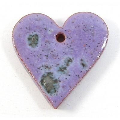 1 Porcelain Funky Heart Mini - Speckled Violet