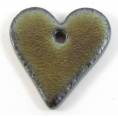 1 Porcelain Funky Heart Mini - Oil Puddle