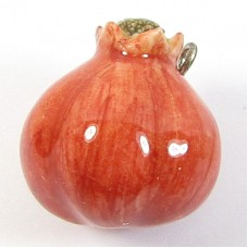 1 Handmade Handpainted Porcelain Pomegranate