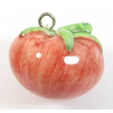 1 Handmade Handpainted Porcelain Tomato