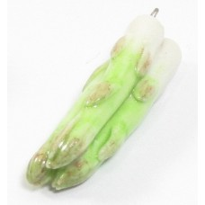 1 Handmade Handpainted Porcelain Bunch of Asparagus
