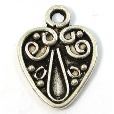 1 sterling silver Heart Charm