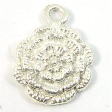 1 sterling silver Flower Charm