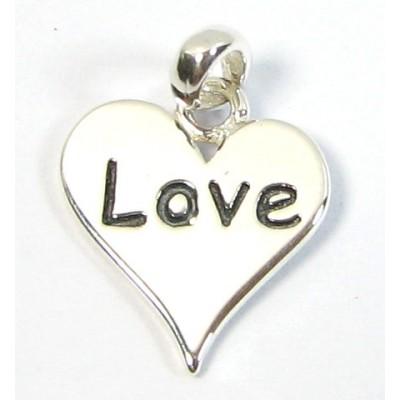 1 Sterling Silver Love Script Charm
