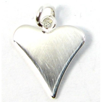 1 Sterling Silver Assymetric Heart Charm