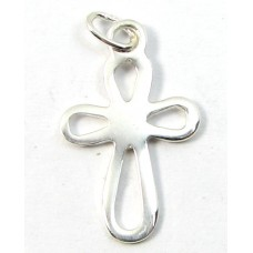 1 Sterling Silver Open Cross Charm