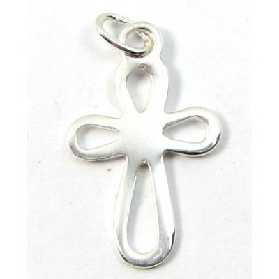 1 Sterling Silver Open Cross Charm