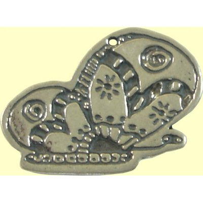 1 Sterling Silver Half Butterfly Charm