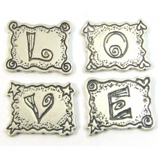 SC-24 - sterling silver 4 LOVE Letters