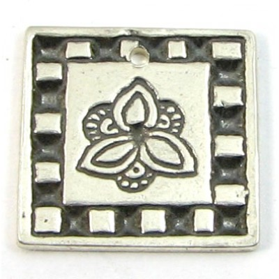 SC-32 - Sterling Silver Flower in a Box Charm