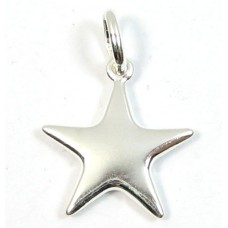 1 Sterling Silver Star Charm with Hanging Ring