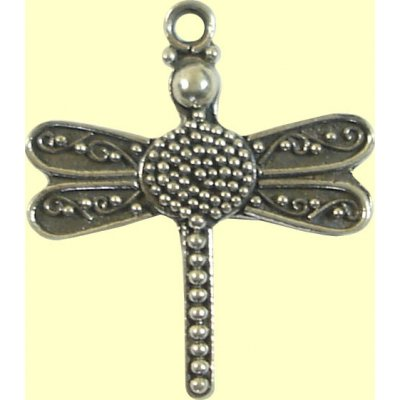 1 sterling silver Bali Dragonfly Pendant/Charm