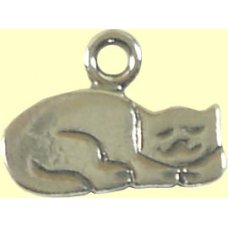 1 sterling silver Here Kitty Cat Charm