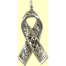 1 sterling silver Awareness Ribbon Charm