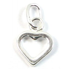 1 sterling silver Dinky Open Heart Charm