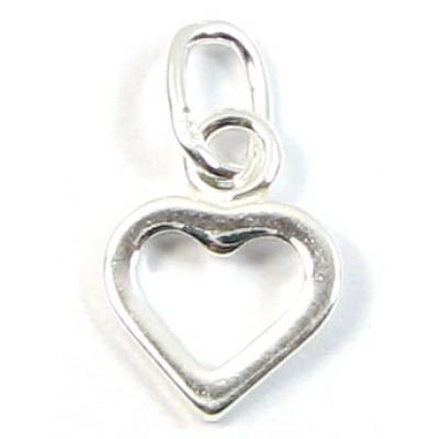 1 sterling silver Dinky Open Heart Charm
