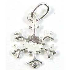 1 sterling silver Snowflake Charm