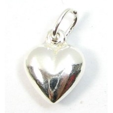 1 sterling silver Puffed Heart Charm