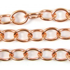 1cm Oval Link Pure Copper Chain