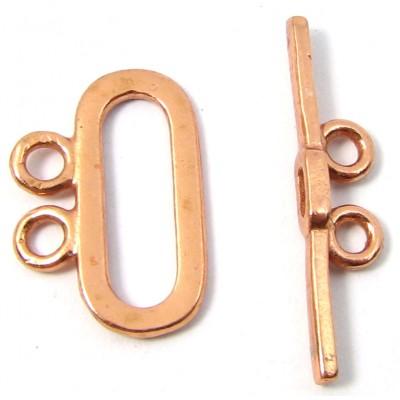 1 Pure Copper Oval 2 Strand Toggle Clasp