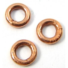 20 Pure Copper 5mm Soldered Rings
