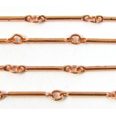 1cm Copper Plated Bar Chain
