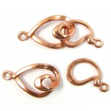 1 Pure Copper 2-Part Clasp Swirl Link
