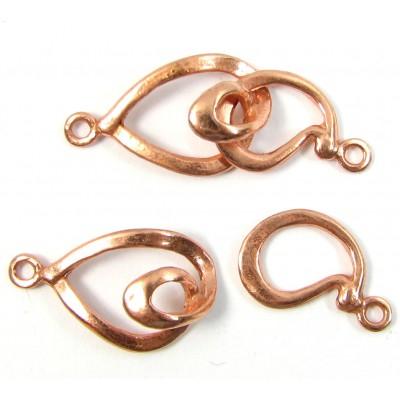 1 Pure Copper 2-Part Clasp Swirl Link