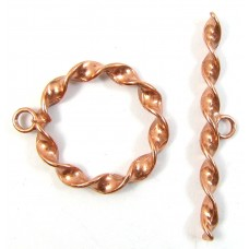 1 Pure Copper Twist Toggle Clasp