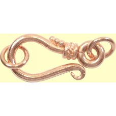 1 Pure Copper Hook Clasp and Rings