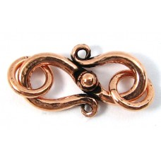 1 Pure Copper 17mm S Hook Clasp