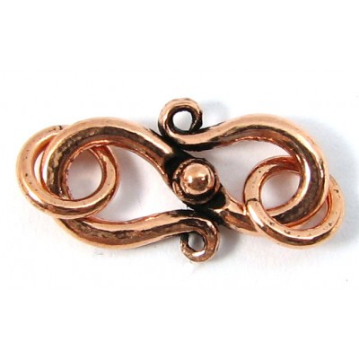 1 Pure Copper 17mm S Clasp with Rings