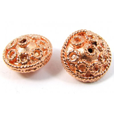1 Pure Copper Flying Saucer Detail Bead
